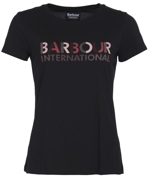 Women's Barbour International Hattrick Tee - Black