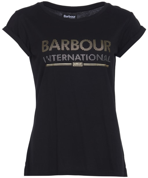Women's Barbour International Strike Tee - Black