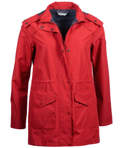 Women's Barbour Deepsea Waterproof Jacket - Brick Red