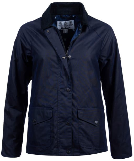 Women's Barbour Clifftop Waxed Jacket - Royal Navy