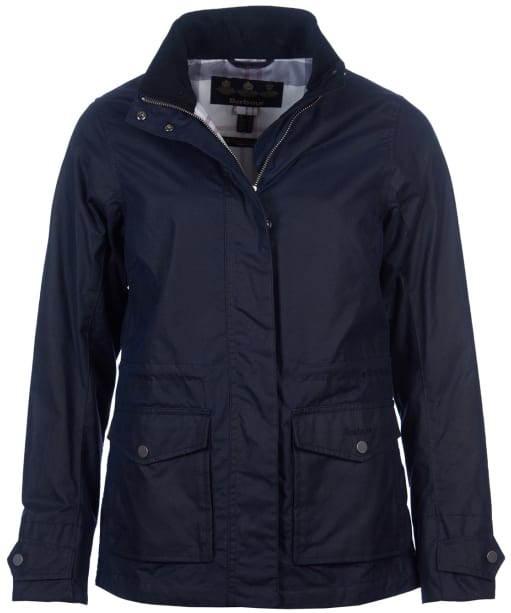 Women's Barbour Stonefield Waxed Jacket - Royal Navy