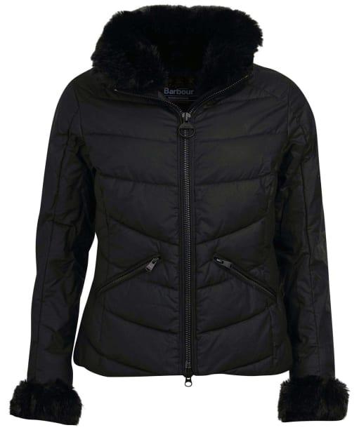 Women's Barbour International Baseline Wax Jacket - Black