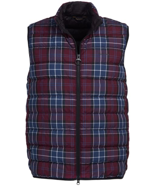 Men's Barbour Tartan Gilet - Merlot