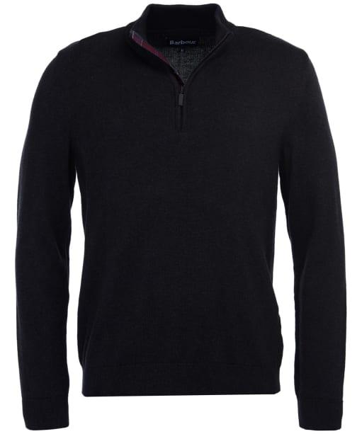 Men's Barbour Avoch Half Zip Sweater - Charcoal Marl