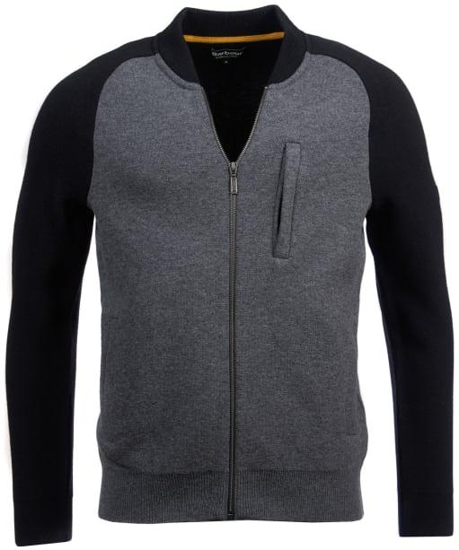 Men's Barbour International Plated Zip Thru Jacket - Grey Marl