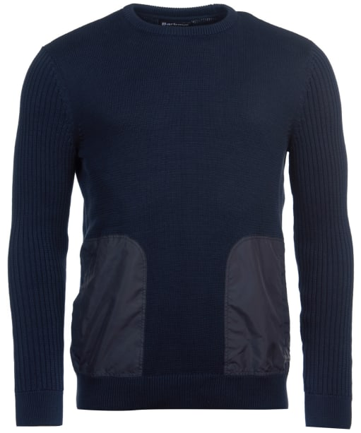 Men's Barbour Ridge Crew Sweater - Navy Marl