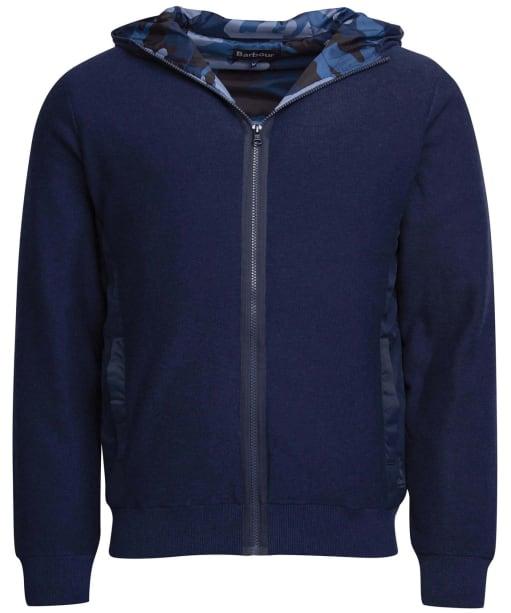 Men's Barbour Baltic Zip Thru Hoody - Mid Blue