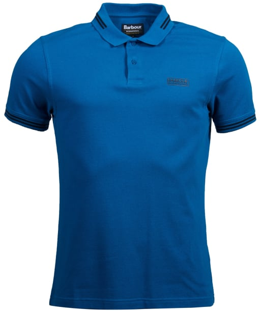 Men's Barbour International Essential Tipped Polo Shirt - Aqua