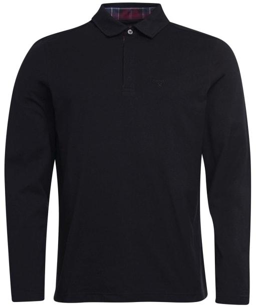Men's Barbour Dunnet Long-Sleeved Polo Shirt - Black