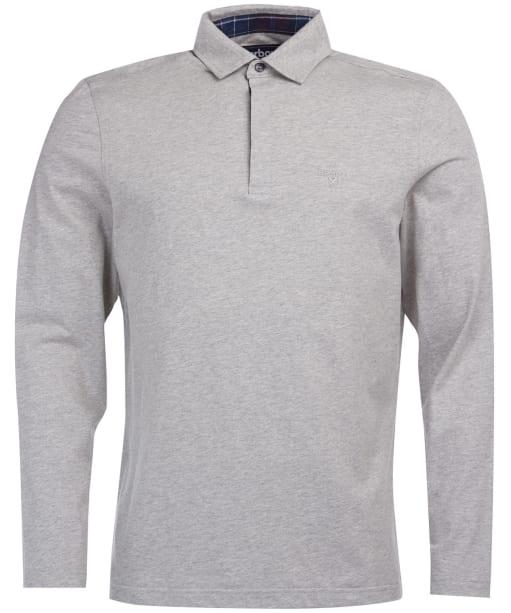Men's Barbour Dunnet Long-Sleeved Polo Shirt - Grey Marl