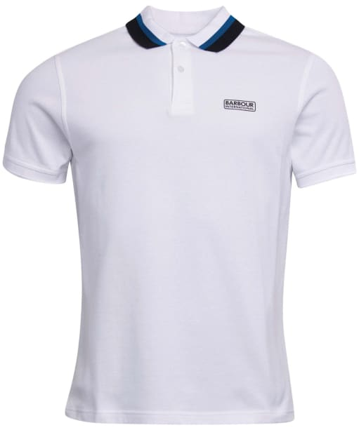Men's Barbour International Dial Polo Shirt - White