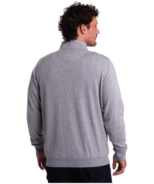 Men's Barbour Batten Half Zip Sweater - Grey Marl