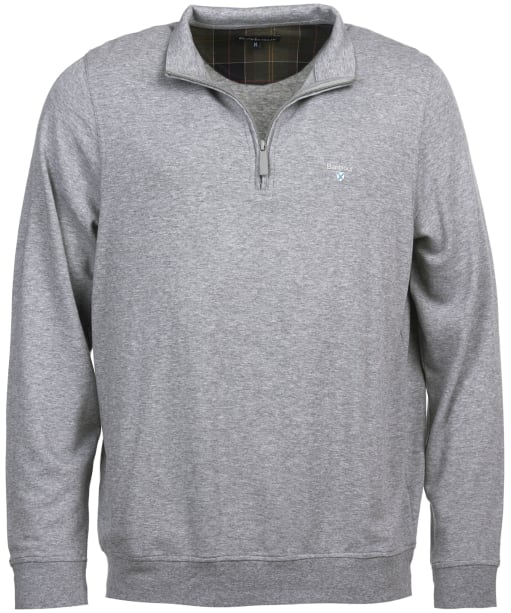 Men's Barbour Batten Half Zip Sweater - Grey Marl