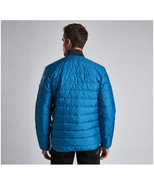 Men's Barbour International Redwell Quilted Jacket - Aqua