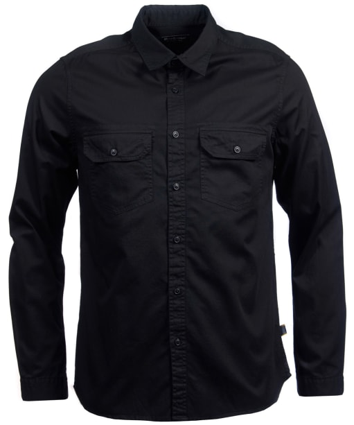 Men's Barbour International Worker Twill Shirt - Black