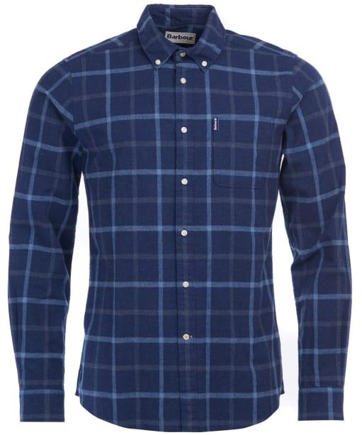 Men's Barbour Tattersall 13 Tailored Shirt - Indigo