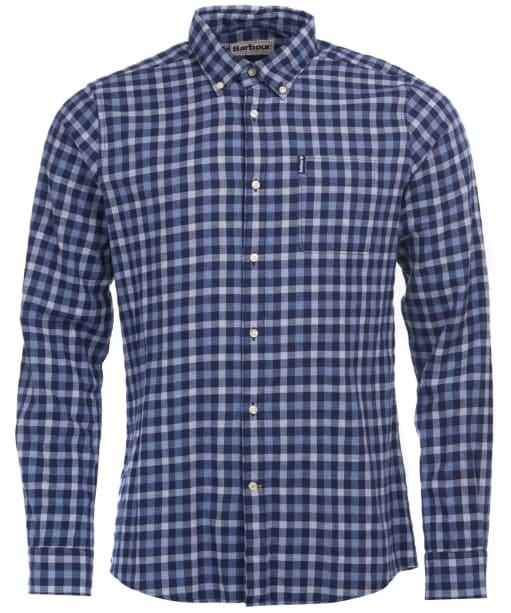 Men's Barbour Gingham 16 Tailored Shirt - Indigo