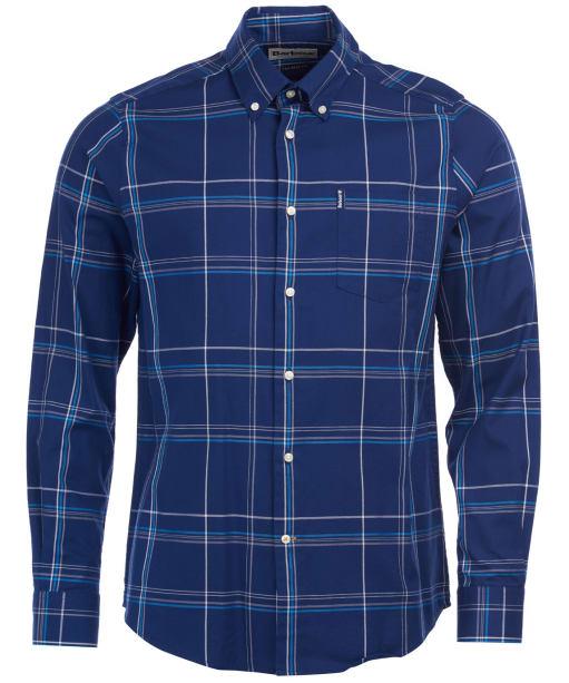 Men's Barbour Highland Check 24 Tailored Shirt - Indigo Check