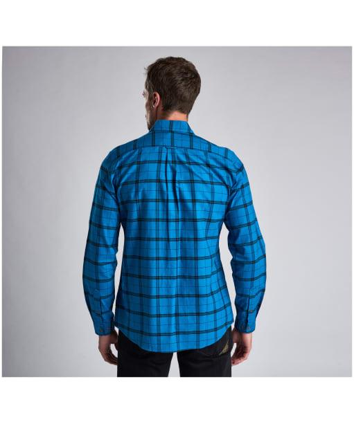Men's Barbour International Grid Check Shirt - Aqua Check