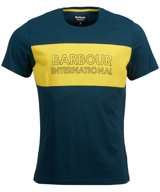 Men's Barbour International Panel Logo Tee - Benzine