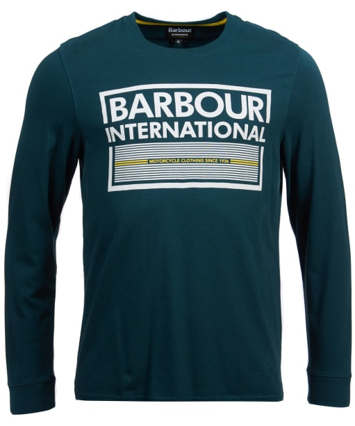 Men's Barbour International System Long Sleeve Tee - Benzine