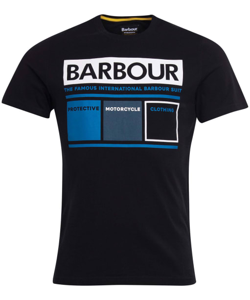 Men's Barbour International Squares Tee - Black