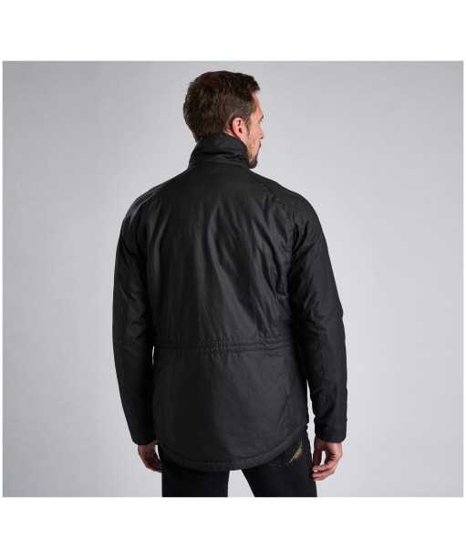 Men's Barbour International Tennant Waxed Jacket - Black