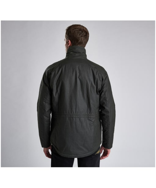 Men's Barbour International Tennant Waxed Jacket - Sage