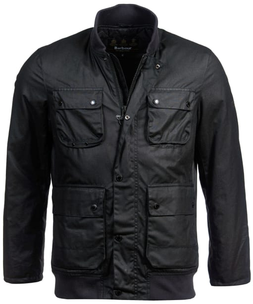 Men's Barbour International Edhill Waxed Jacket - Black
