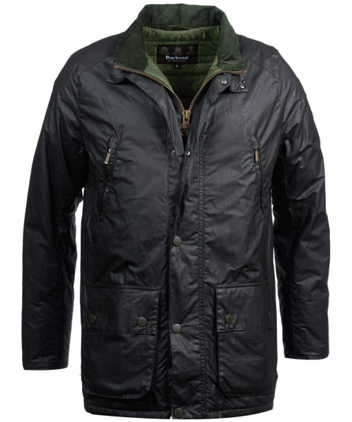 Men's Barbour International Coleman Lightweight Waxed Jacket - Sage