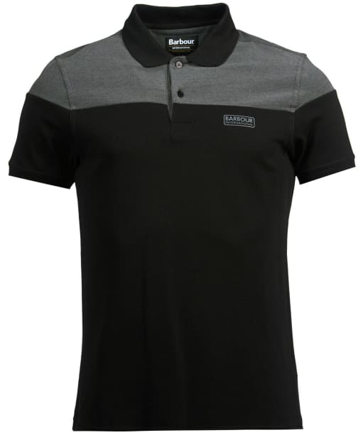 Men's Barbour International Curve Polo Shirt - Black