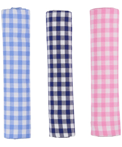 Men's Schöffel Handkerchiefs, pack of 3 - Gingham Mix