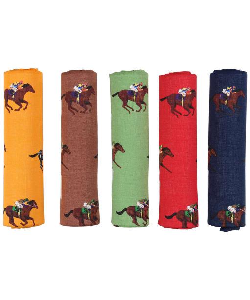 Men's Soprano Horse Racing Handkerchiefs - Multi