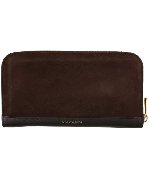 Women's Fairfax & Favor Salisbury Leather Purse - Chocolate