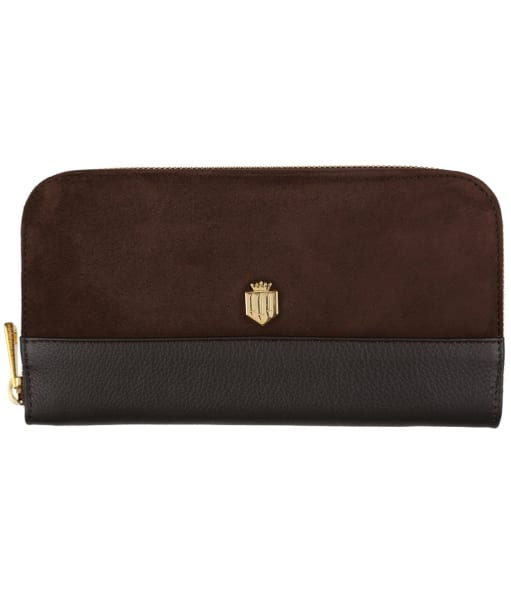 Women's Fairfax & Favor Salisbury Leather Purse - Chocolate