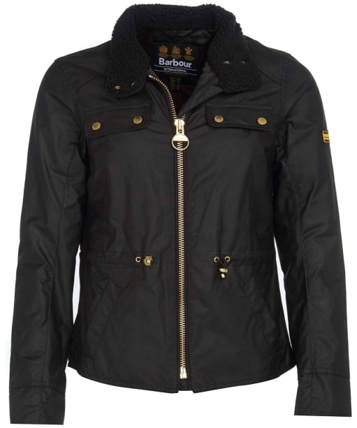Women's Barbour International Trial Wax Jacket - Black