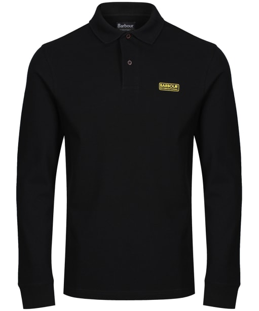 Men's Barbour International Long Sleeve Polo Shirt - Black
