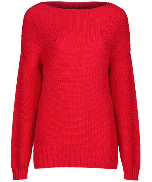 Women's Barbour Stitch Guernsey Knit Sweater - Brick Red