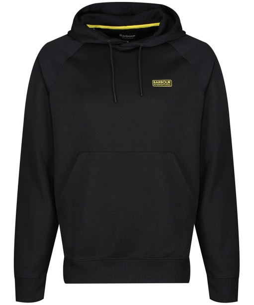 Men's Barbour International Pop Over Hoodie - Black