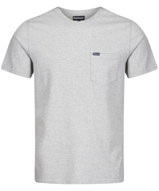 Men's Barbour Logo Pocket Tee - Grey Marl