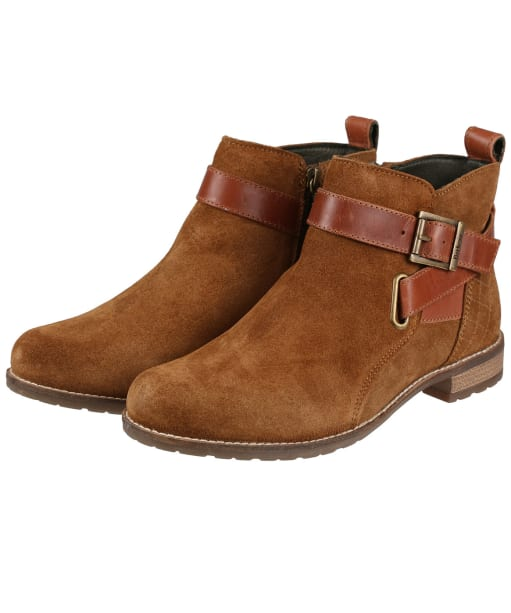 Women's Barbour Jane Suede Ankle Boots - Cognac Suede