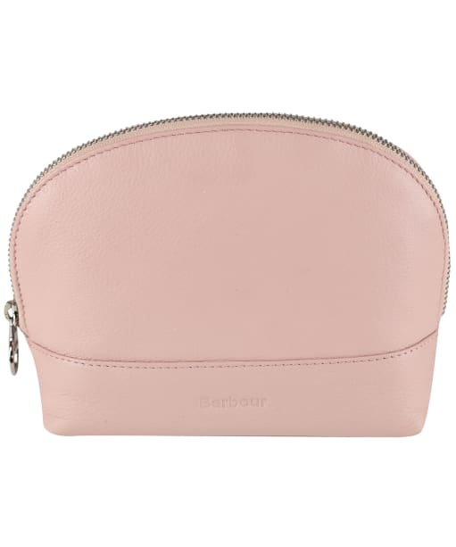 Women's Barbour Leather Makeup Bag - Pink
