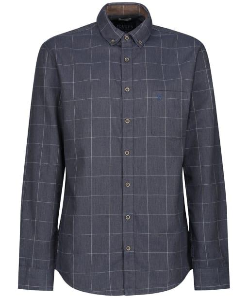 Men's Joules Barbrook Flannel Shirt - Navy Overcheck