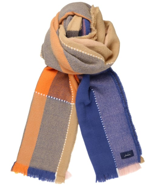 Women's Joules Stamford Check Scarf - Tan Check