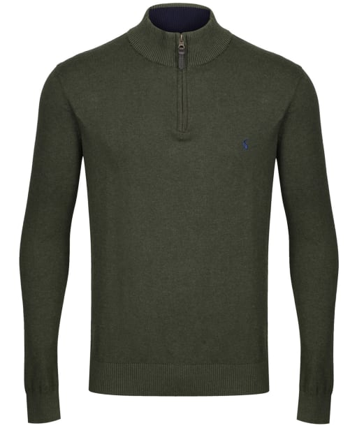 Men's Joules Hillside ¼ Zip Funnel Neck Jumper - Dark Green
