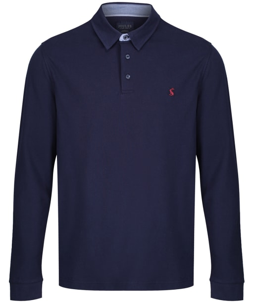 Men's Joules Woodwell L/S Polo Shirt - French Navy