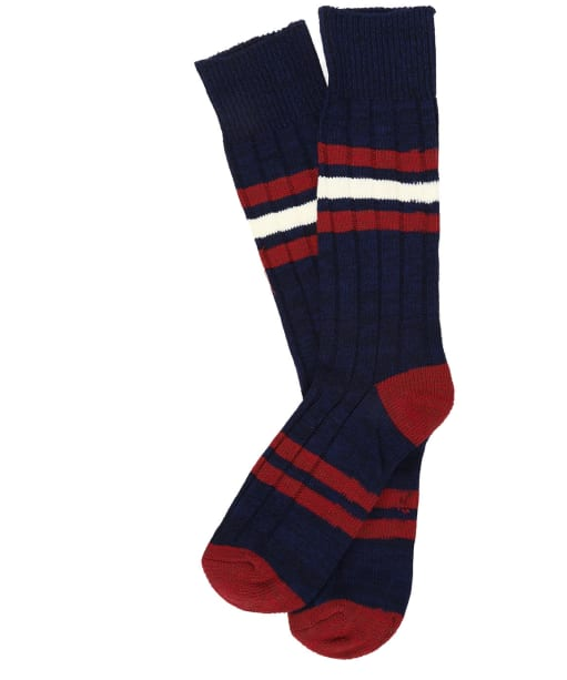 Men's Joules Chunky Boot Socks - Navy / Red