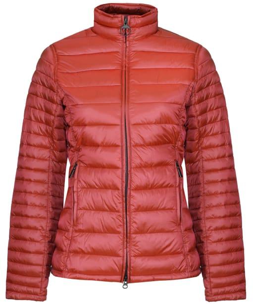Women's Barbour Clyde Short Baffle Quilted Jacket - Saffron