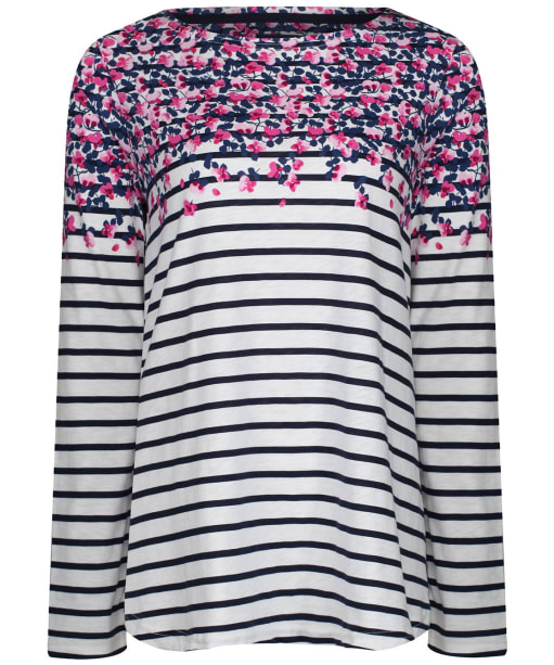 Women's Joules Harbour Print Top - Cream Sweetpea