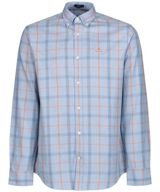 Men's GANT Heather Oxford Plaid Shirt - Atlantic Blue